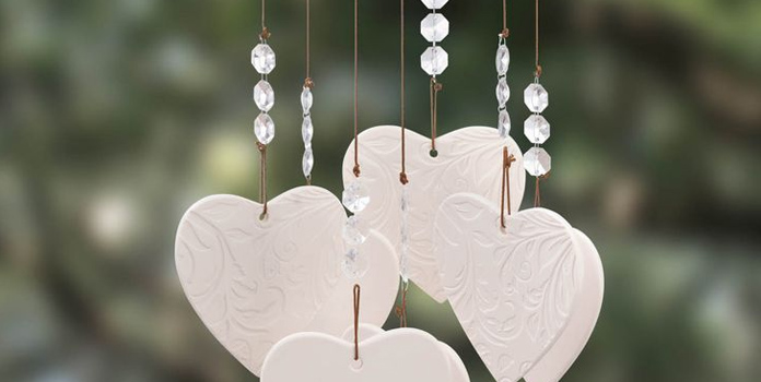 this will work not only as a great valentine gift but also an impressive valentine decoration for her room look for a cute heartshaped wind chime to go
