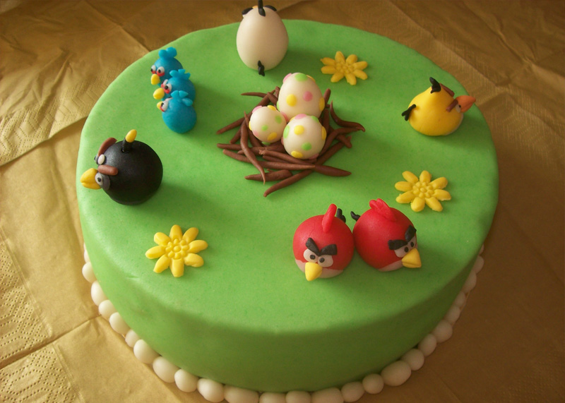 Angry Birds Easter Cake