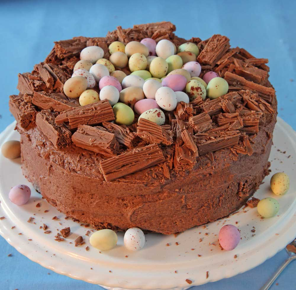 Chocolate Nest Cake for Easter