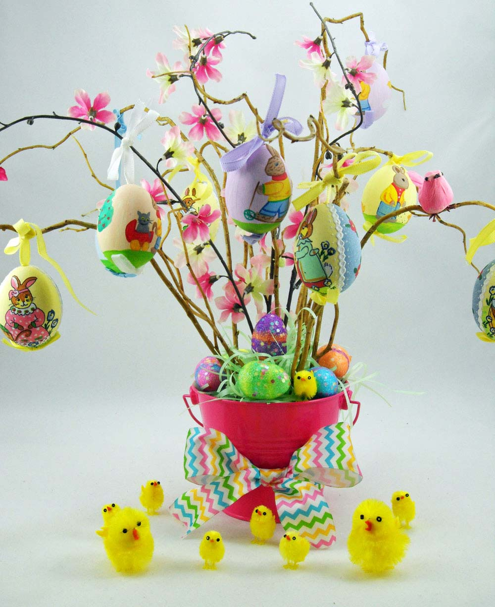 Colorful Homemade Easter Tree