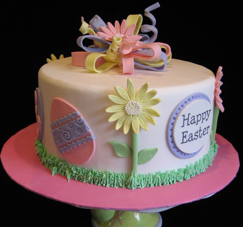 Decorated Easter Cake