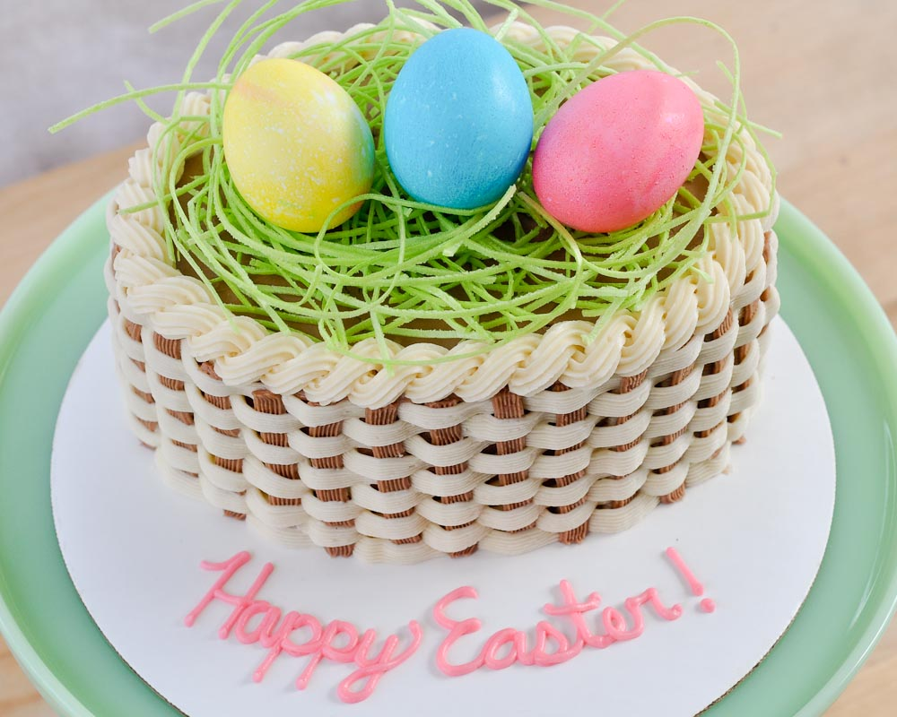 25 easter cakes and recipe ideas to tempt your tastebuds easter basket cake negle Gallery