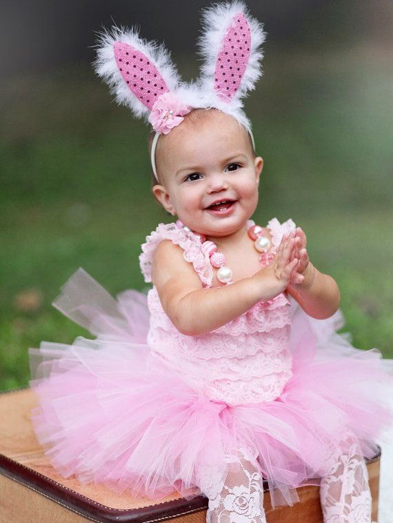 Easter bunny dress for baby girl