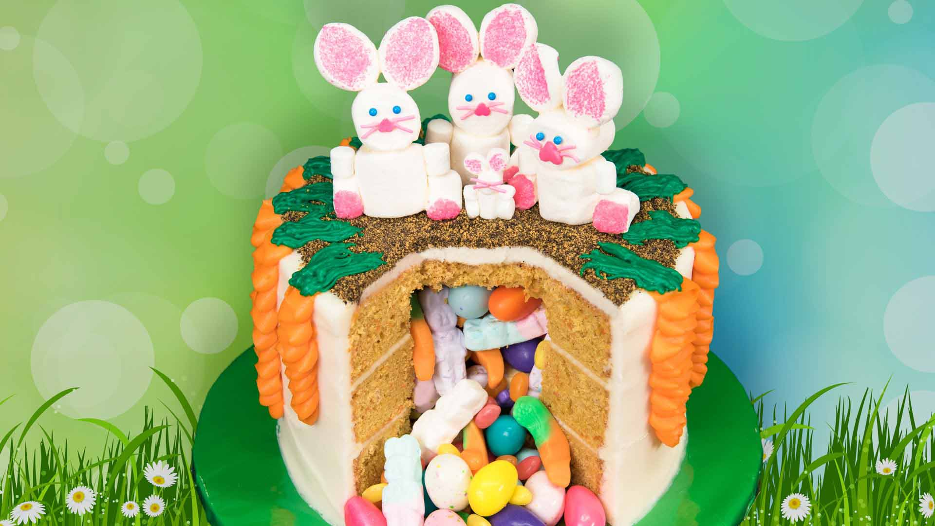 Easter Candy Pinata Cake