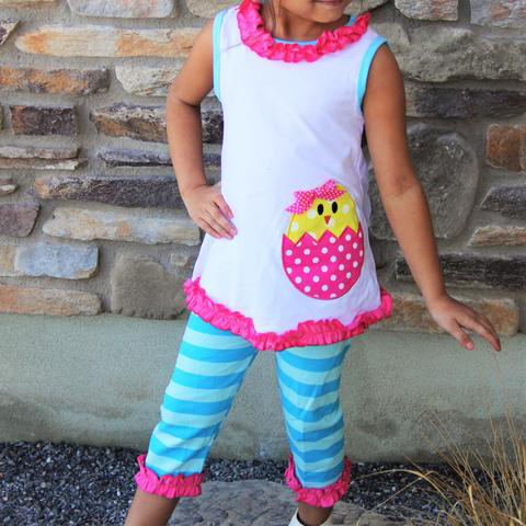 Easter Capry Outfit with Polka Dots