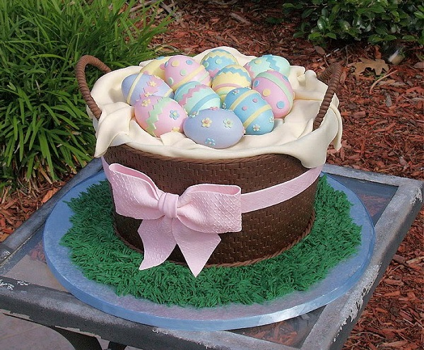 Easter Egg Basket Cake