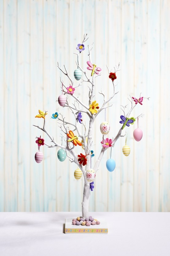 Easter White Twig Tree