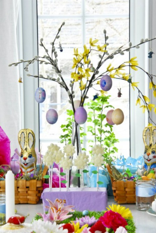 Homemade Easter Tree