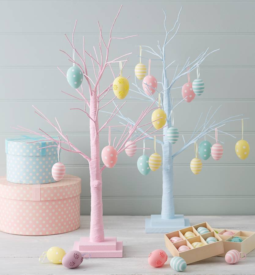 Painted Twig and Egg Easter Tree