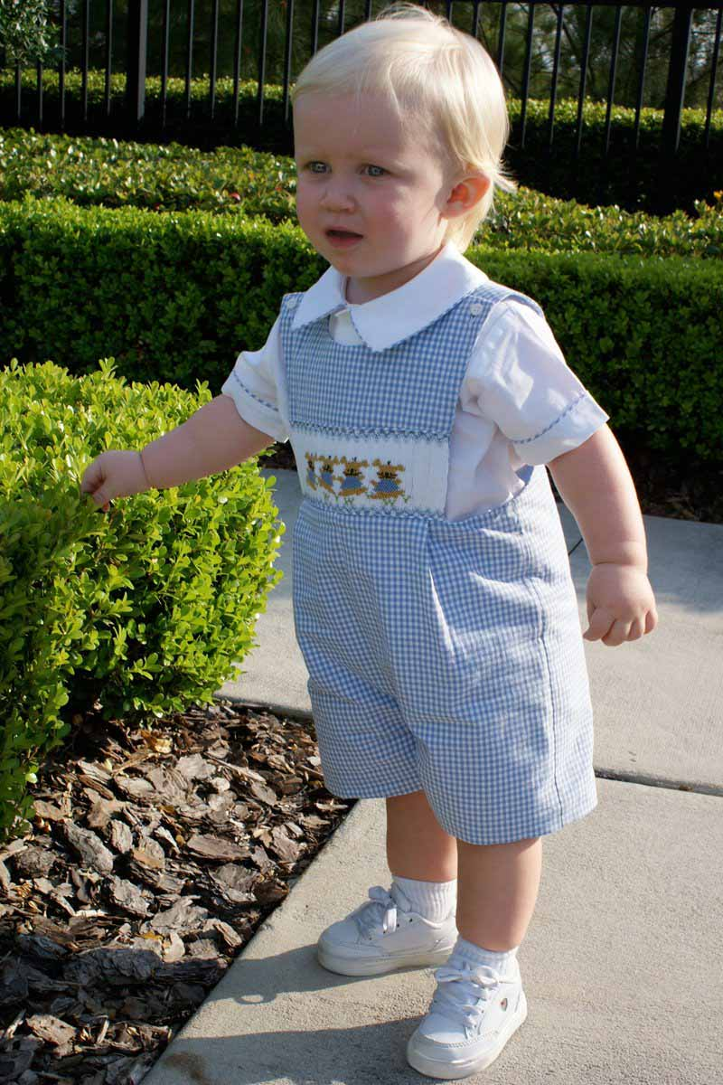 Smocked Easter Outfit for Baby Boy