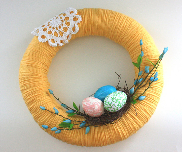 DIY Spring Wreath Decoration