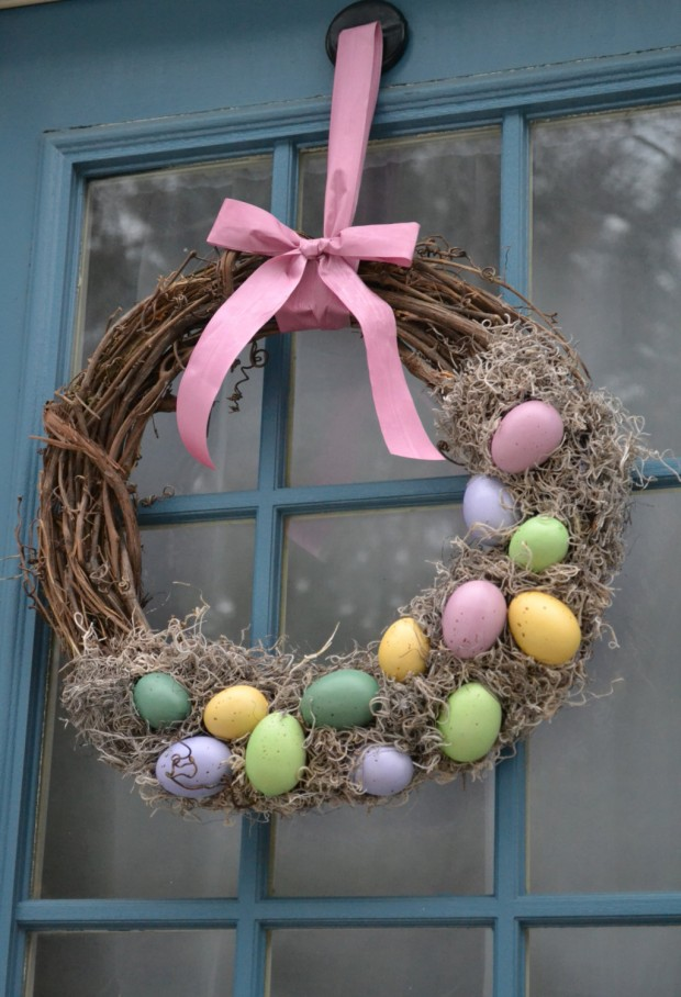 Easy Handmade Easter Wreath