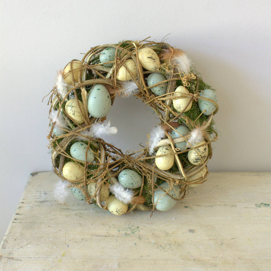 Egg and Feather Easter Wreath