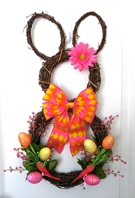 Handmade Easter Bunny Wreath