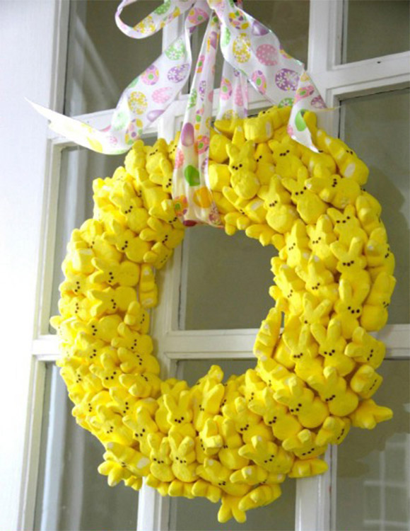 Marshmallow Easter Wreath