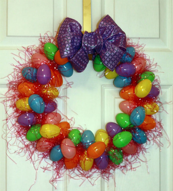 Stylish Easter Egg Wreath
