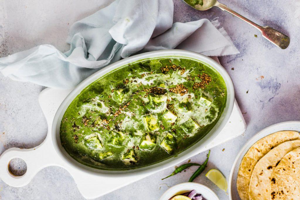 Palak Paneer– Healthy Indian vegetarian recipe.