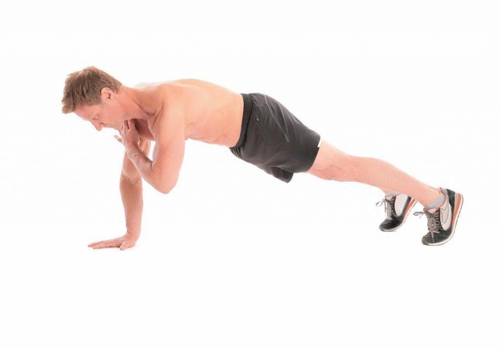 Plank Tap Bicep Workout