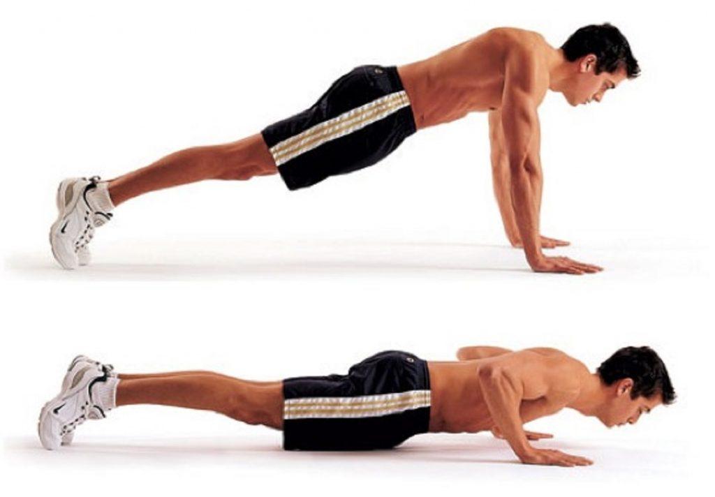 Push-Ups exercise for bigger biceps