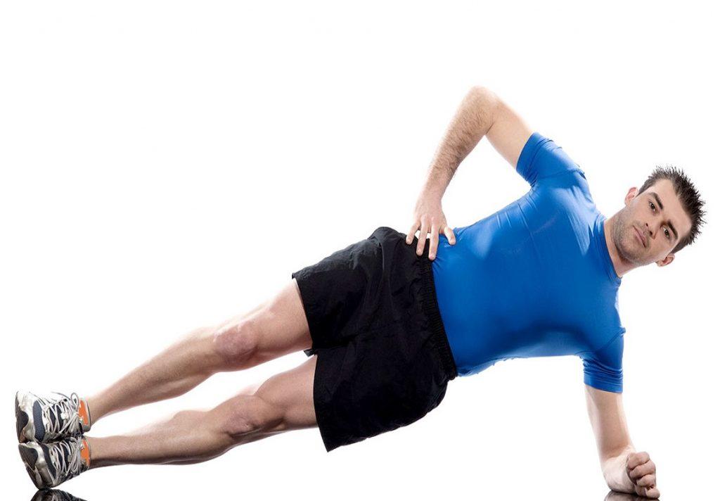 Side Plank Bicep Workout