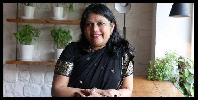 Entrepreneur Falguni nayar in her terrace garden