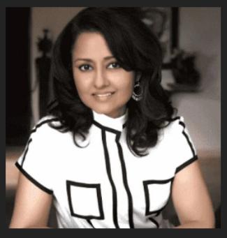 4th richest women leena gandhi sitting her living room