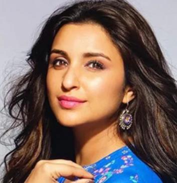 8th Richest Actress parineeti chopra in blue outfit