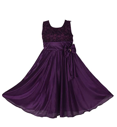 Purple Organza Party Dress for Teen Girls