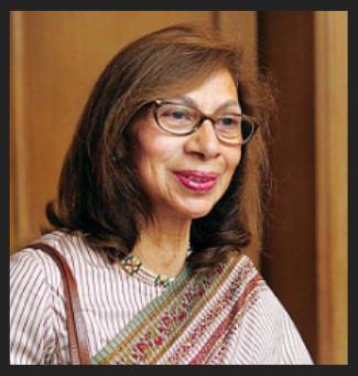 3rd richest women smita v crishna speaking in a board meeting