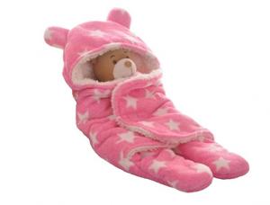 Brandonn fleece pink colour baby blanket set